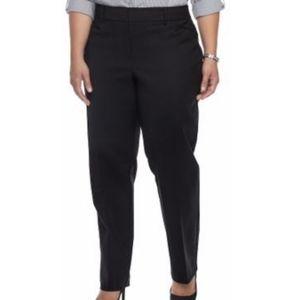 APT. 9 Croft & Barrrow 4pc black work pants bundle